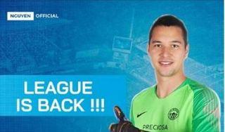 Thủ môn Filip Nguyễn thông báo tin vui tới các fan hâm mộ