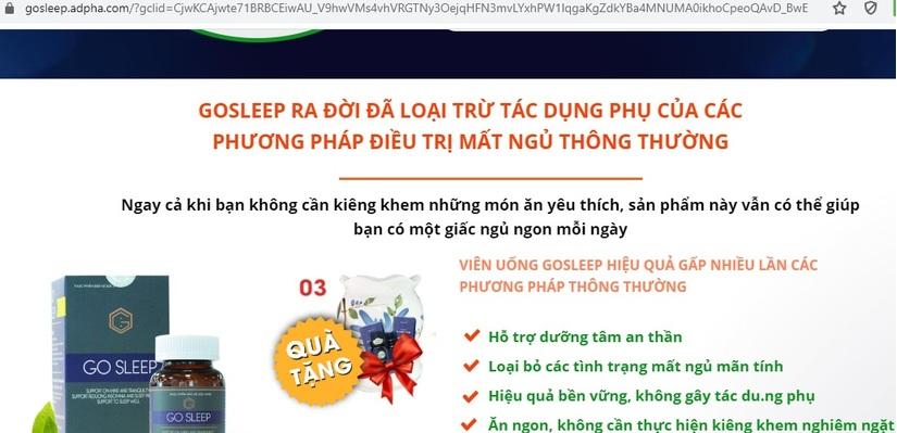 Go Sleep: Quảng cáo như thuốc chữa bệnh