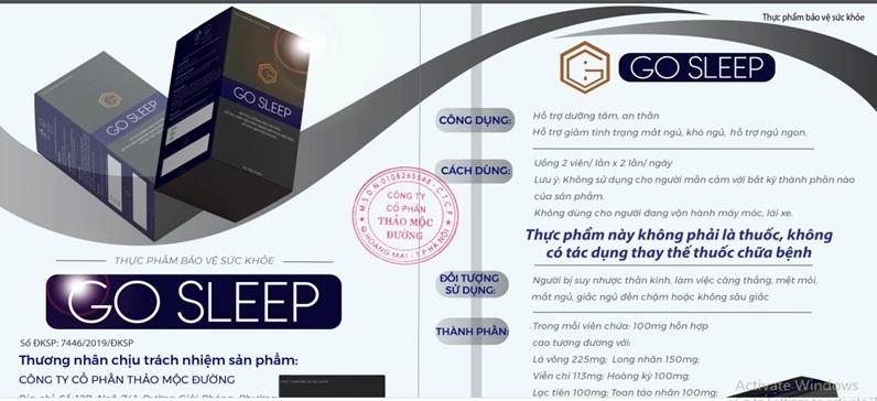 Go Sleep: Quảng cáo như thuốc chữa bệnh, sử dụng bác sỹ để quảng cáo trái quy định