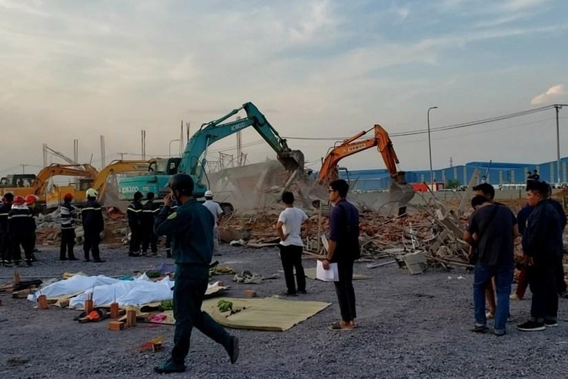 10 người chết trong vụ sập tường ở Đồng Nai đều không có HĐLĐ