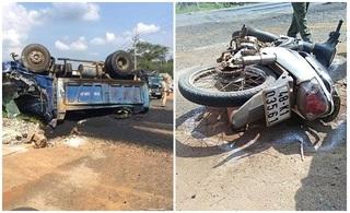Xe tải gây tai nạn, 4 người thương vong