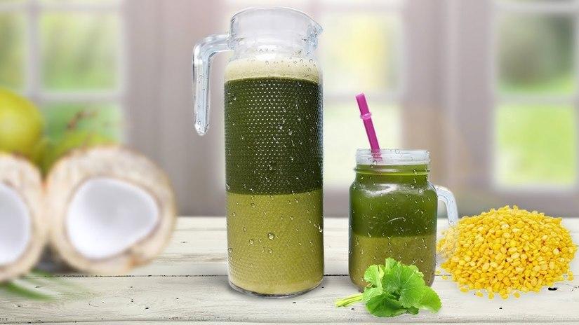 Cách làm sinh tố đậu xanh rau má cực kì thơm ngon bổ dưỡng