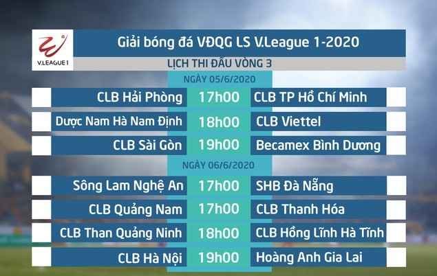 Lịch thi đấu vòng 3 V.League: HAGL gặp khó, Nam Định 'dễ thở'