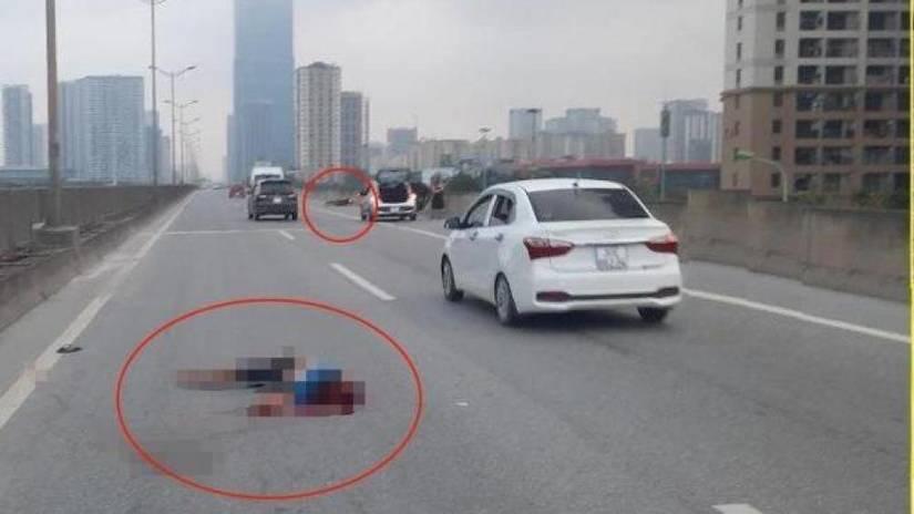 Va chạm với taxi trên vành đai 3 nam thanh niên đi xe máy tử vong