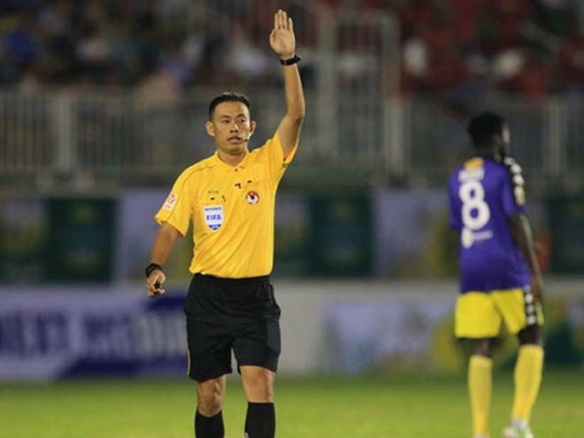 Trọng tài Ngô Duy Lân sẽ điều khiển trận HAGL gặp Nam Định