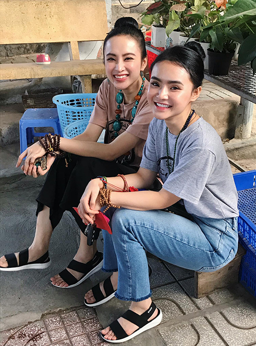 Chị em Angela Phương Trinh - Phương Trang mở quán chay