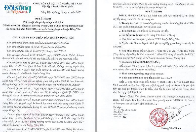 sai phạm Đầu tư công tại huyện Đồng Văn, Hà Giang