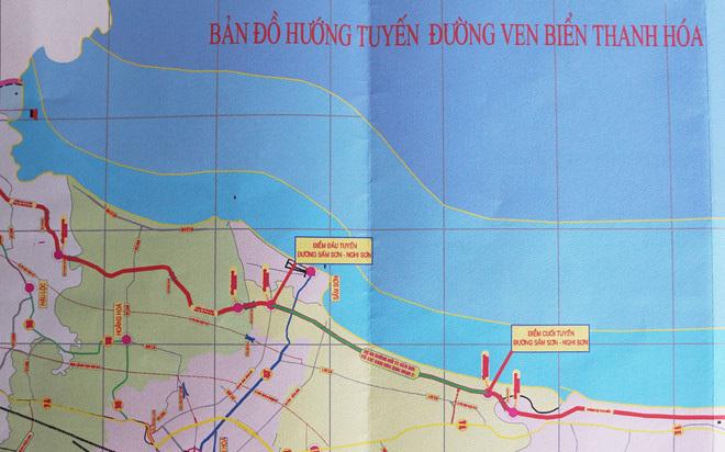Dự án 3.400 tỉ đường ven biển Thanh Hóa được phê duyệt