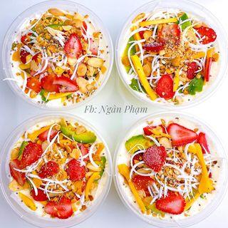 Làm kem sữa chua trái cây giải nhiệt trong những ngày nắng nóng