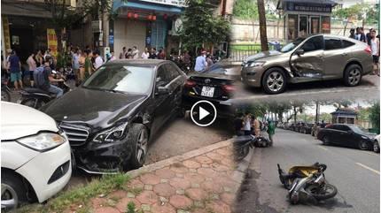 Danh tính nữ tài xế lái Mercedes gây tai nạn liên hoàn ở Hà Nội