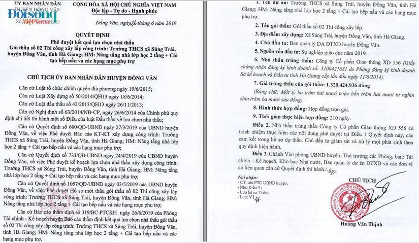 sai phạm Đầu tư công tại huyện Đồng Văn, Hà Giang01