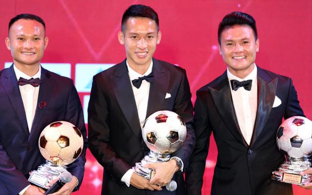 Đỗ Hùng Dũng đã thắng áp đảo Quang Hải, Trọng Hoàng ở giải thưởng QBV Việt Nam