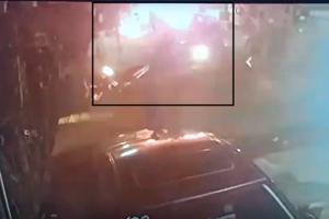 Clip: Nhóm người ném 'bom xăng' còn ngăn không cho người dân chữa cháy