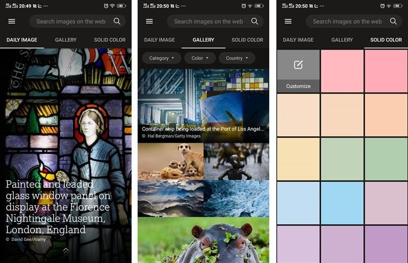 Hướng dẫn đổi hình nền điện thoại mỗi ngày với ứng dụng Bing Wallpapers