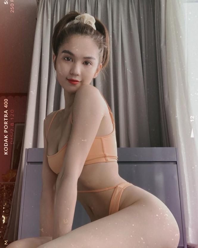 Ngọc Trinh tung ảnh bikini khiến dân mạng nín thở
