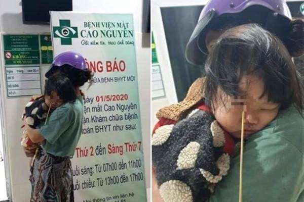 Bé gái 3 tuổi bị que kem đâm vào hốc mắt do chạy nhảy chơi đùa