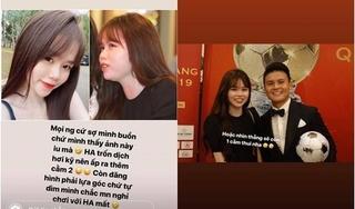 Huỳnh Anh - bạn gái của Quang Hải đáp trả khi bị chê 2 cằm, kém sắc
