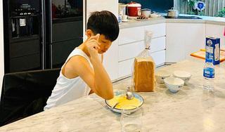 Hồ Ngọc Hà khoe con trai làm bánh như đầu bếp chuyên nghiệp