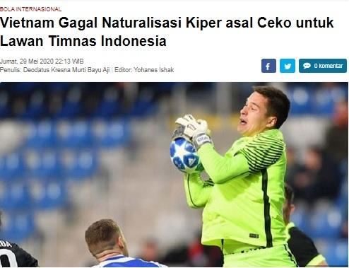 Báo Indonesia vui mừng khi Filip Nguyễn chưa có quốc tịch Việt Nam