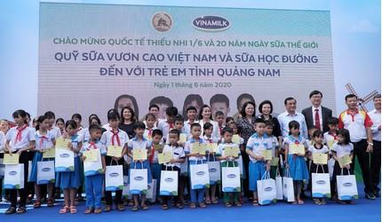 VINAMILK dành tặng món quà 1/6 đặc biệt đến cho trẻ em Quảng Nam