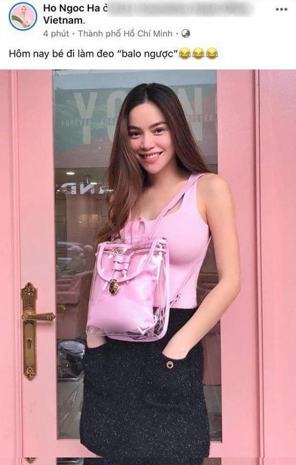 Hồ Ngọc Hà đeo ba lô ngược ngầm xác nhận mang thai?