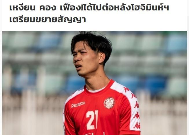 Báo chí Thái Lan đặc biệt quan tâm tới tương lai Công Phượng