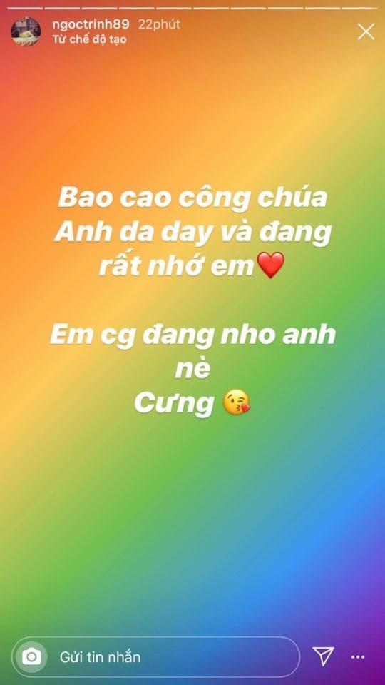 Ngọc Trinh khoe tin nhắn bạn trai gửi 'ngọt như mía lùi' khiến fan ghen tỵ