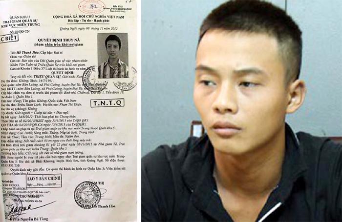 Phạm nhân giết người đặc biệt nguy hiểm trốn trại nghi đang trốn ở Quảng Nam
