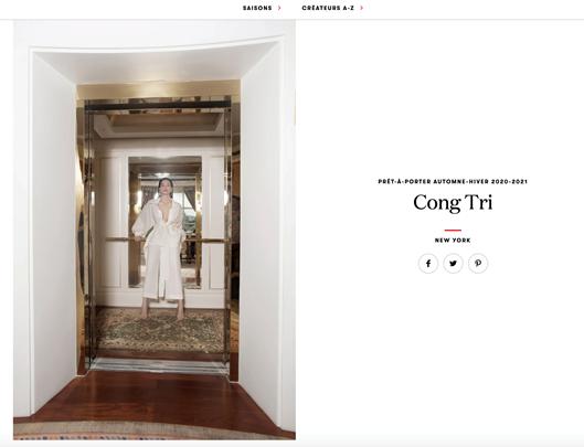 Hồ Ngọc Hà, Thanh Hằng diện thiết kế của Công Trí xuất hiện trên VOGUE Pháp