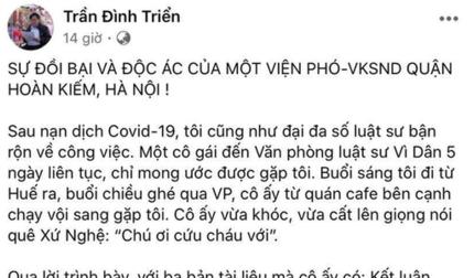 Vì sao Phó Viện trưởng VKSND quận Hoàn Kiếm bị đình chỉ công tác?