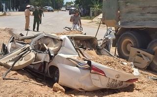 Vụ xe tải đè nát xe con ở Thanh Hóa: Bé trai sống sót đã khỏe mạnh