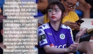 Bị soi về nhan sắc, bạn gái Quang Hải đáp trả antifan cực gắt