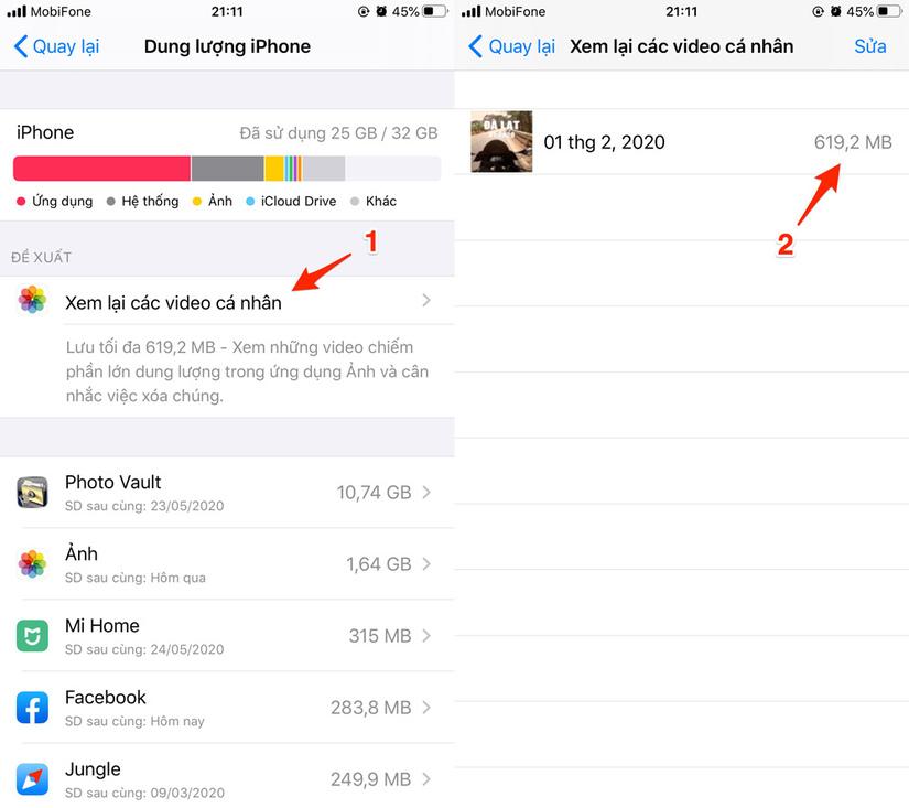 4 cách giúp tăng dung lượng lưu trữ trên iPhone nhanh nhất