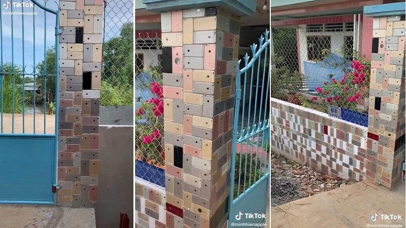 Dân chơi Việt bỏ 250 triệu mua iPhone về lát tường