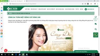 """Thẩm mỹ viện Dr Han quảng cáo dịch vụ """"căng da mặt"""" không được cấp phép"""