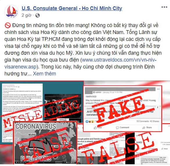 Không có việc Mỹ ngừng cấp visa cho du học sinh Việt Nam