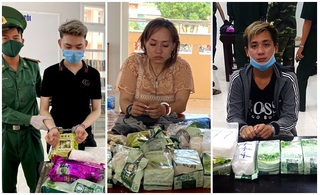 Bắt 3 đối tượng vận chuyển 30 kg ma túy đá từ nước ngoài về Việt Nam