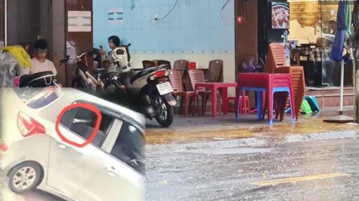 Lộ hình ảnh ô tô chở sát thủ bắn 'đại ca giang hồ' ở Hải Phòng