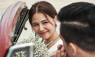 Phanh Lee 'Ghét thì yêu thôi' khoe thiệp cưới tối giản nhưng đầy tinh tế