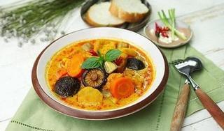 Học cách nấu món cà ri rau củ chay thanh đạm, hấp dẫn