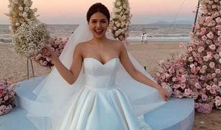 Hé lộ váy cưới và nhan sắc cực xinh của cô dâu Phanh Lee trong hôn lễ bên bãi biển