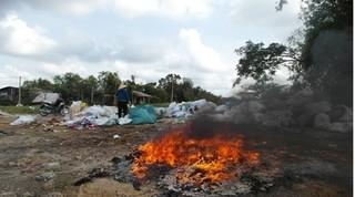 Dập lửa đống rác gần nhà, cụ bà bị lửa bén tử vong
