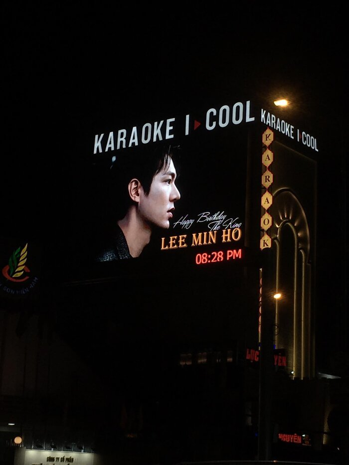 Fan Việt mạnh tay chi 7.000 USD mừng sinh nhật Lee Min Ho