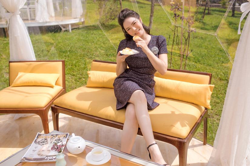 Lý Nhã Kỳ khoe nhan vạn người mê trong resort triệu đô tại Đà Lạt
