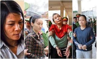 Vụ giết người, đổ bê tông thi thể ở Bình Dương: Nữ bị cáo được dìu tới tòa