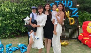 Thúy Diễm - Lương Thế Thành tổ chức sinh nhật cho con trai, nhan sắc dàn mẹ bỉm sữa gây sốt