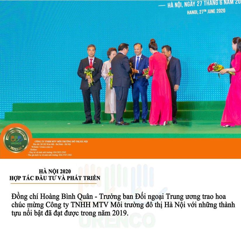 URENCO nhận cờ thi đua 'Đơn vị xuất sắc trong phong trào thi đua năm 2019' của Chính Phủ