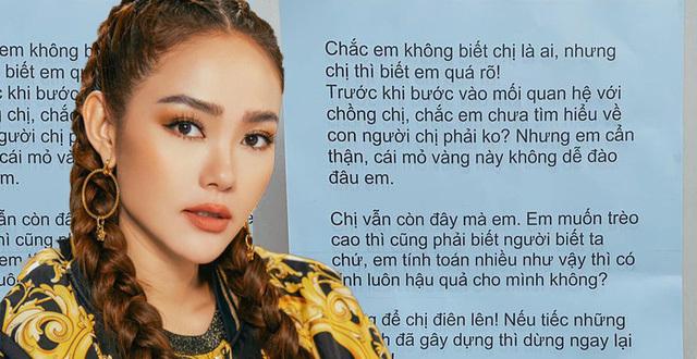 Minh Hằng bất ngờ tiết lộ chủ nhân bức thư nặc danh tố cô giật chồng