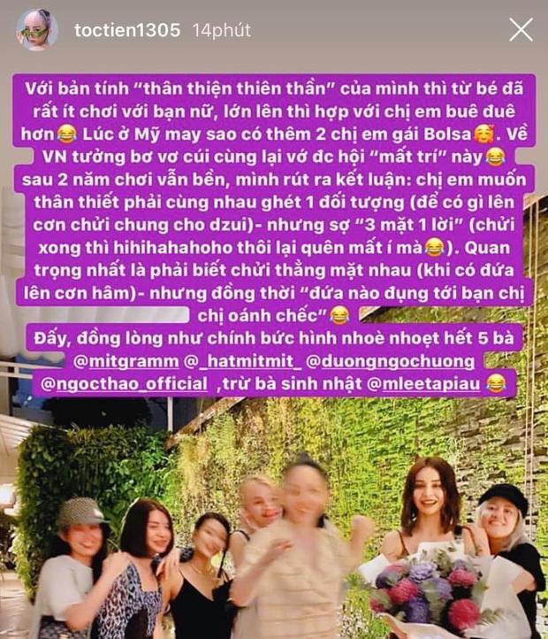 Giữa ồn ào nghỉ chơi của Chi Pu - Quỳnh Anh Shyn, Tóc Tiên bất ngờ nêu quan điểm về tình bạn khiến fan gật gù