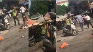 Sự thật hai bảo vệ chợ xô xát với thanh niên 'không bình thường' ở Nghệ An